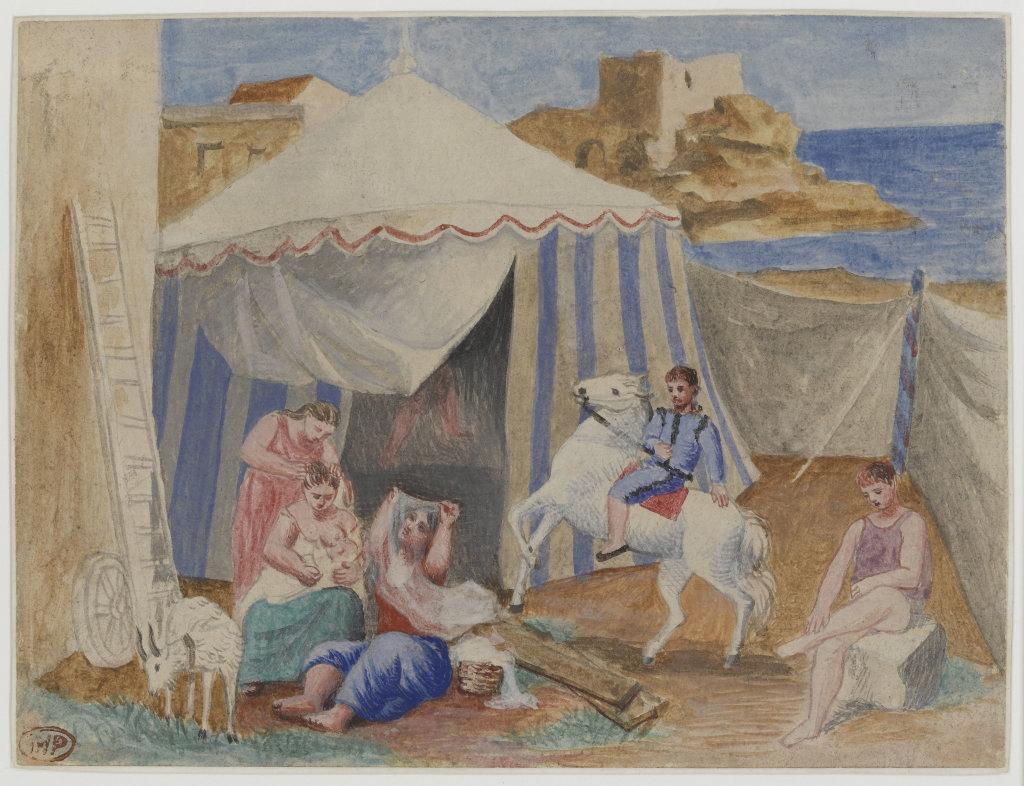 Cirque forain, Pablo Picasso, 1922 - Olga Picasso Musee Picasso