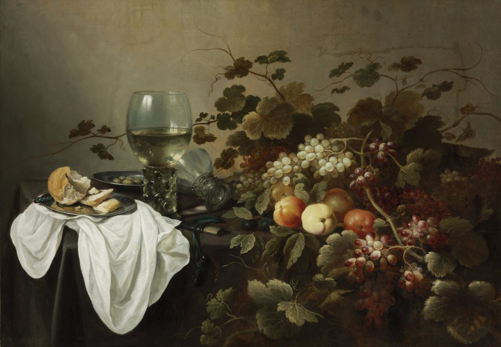 Still Life with Large Roemer and Fruit - Pieter Claesz and Roelof Claesz Koets - Masterpieces from Budapest. From the Renaissance to the Avant-Garde au Musee Thyssen- Bornemisza – Madrid