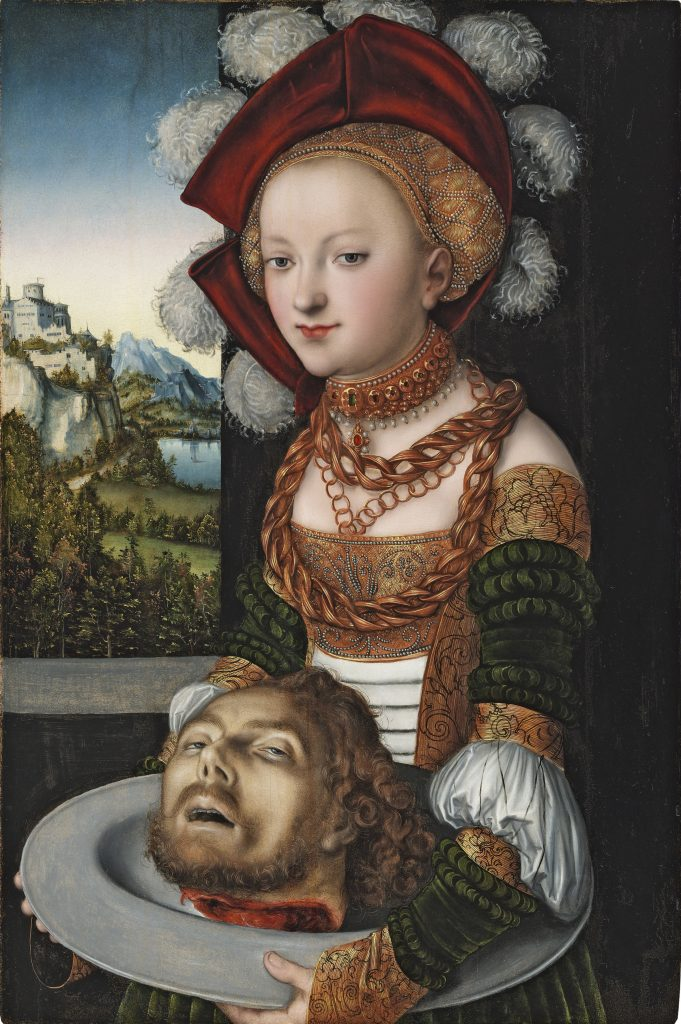 Salome with the Head of Saint John the Baptist, Lucas Cranach 1530 - Masterpieces from Budapest. From the Renaissance to the Avant-Garde au Musee Thyssen- Bornemisza – Madrid