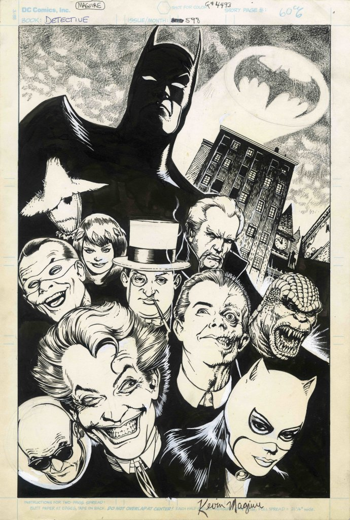 Detective Comics #598 Pin-up Artist Kevin Maguire DETECTIVE COMICS and all related characters and elements