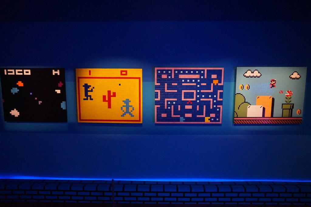 Capture de l'exposition, My Game is... Invader, au Musée en Herbe