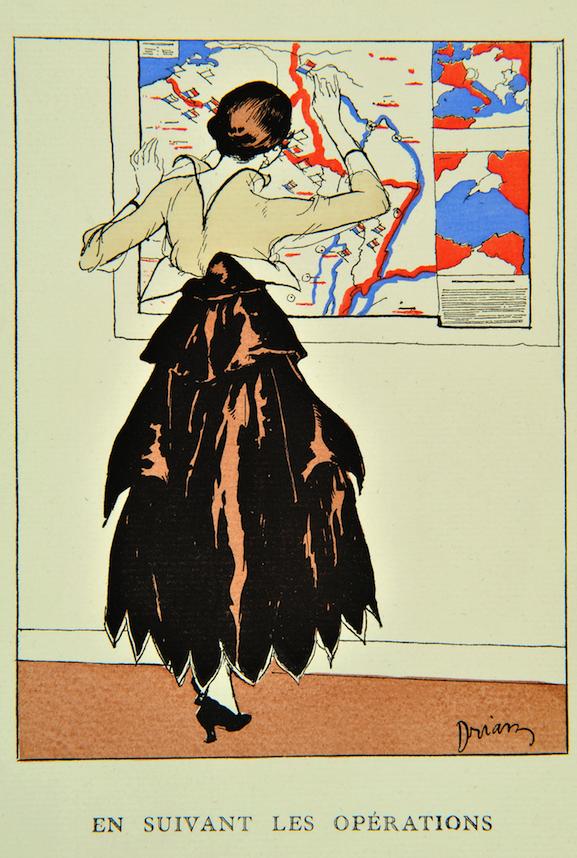 E.-A. Drian, Gazette du Bon Ton, 1915, Mode et Femmes 14 18, Bibliothèque Forney