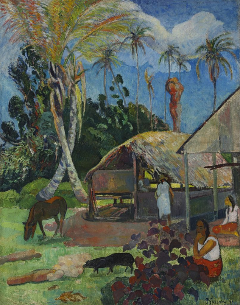 Black Pigs, Paul Gauguin, 1891 - Masterpieces from Budapest. From the Renaissance to the Avant-Garde au Musee Thyssen- Bornemisza – Madrid