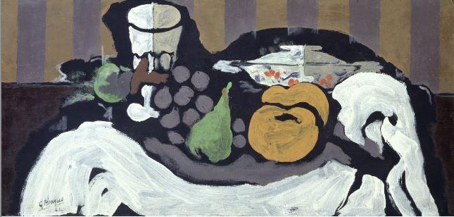Georges Braque Fruit sur une nappe Buehrle - 21 rue de la Boetie au Musee Maillol