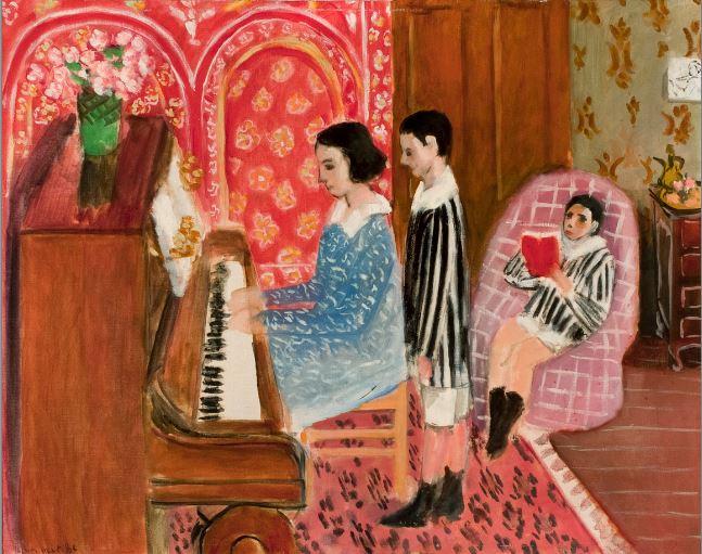 Henri Matisse, La lecon de piano,1923 - 21 rue de la Boetie au Musee Maillol