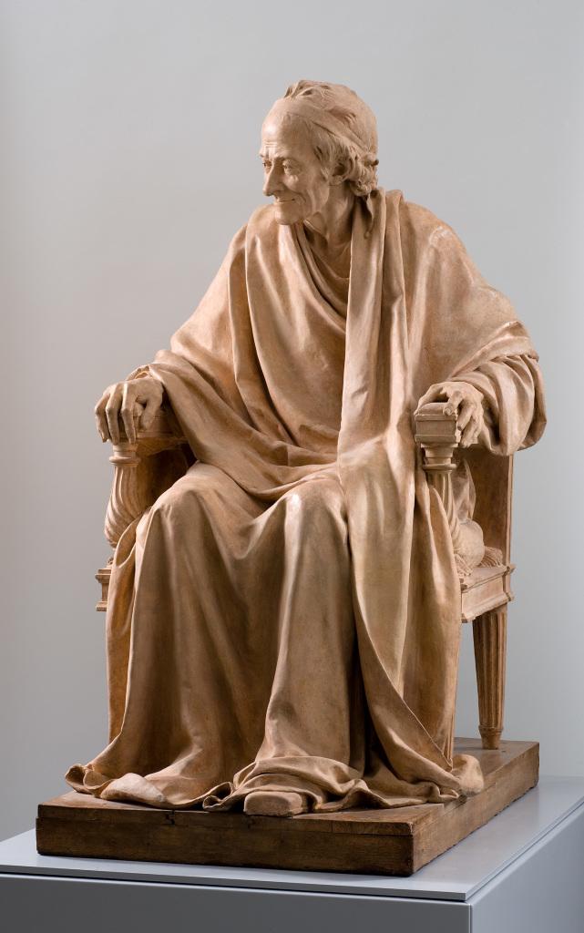 Houdon - Voltaire assis - L'art et la matiere - Musee Fabre de Montpellier