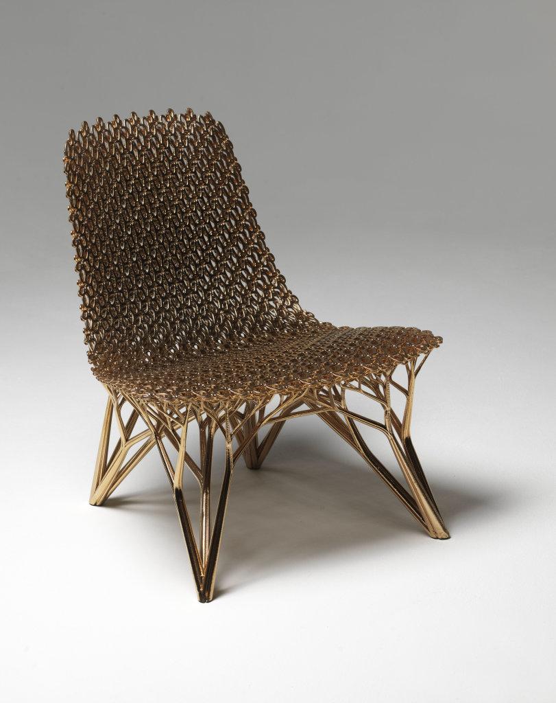 Adaptation Chair Gradient Copper Chair, Joris Laarman, 2015, Imprimer le Monde, Centre Pompidou