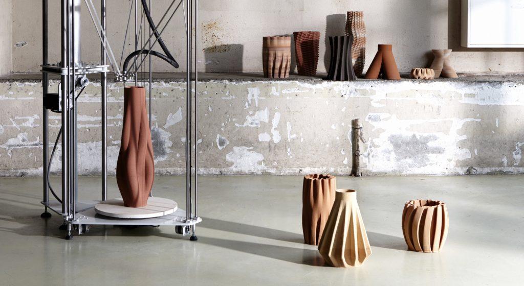 Sediment Vases, Olivier Van Herpt, 2015-2016, Imprimer le Monde, Centre Pompidou