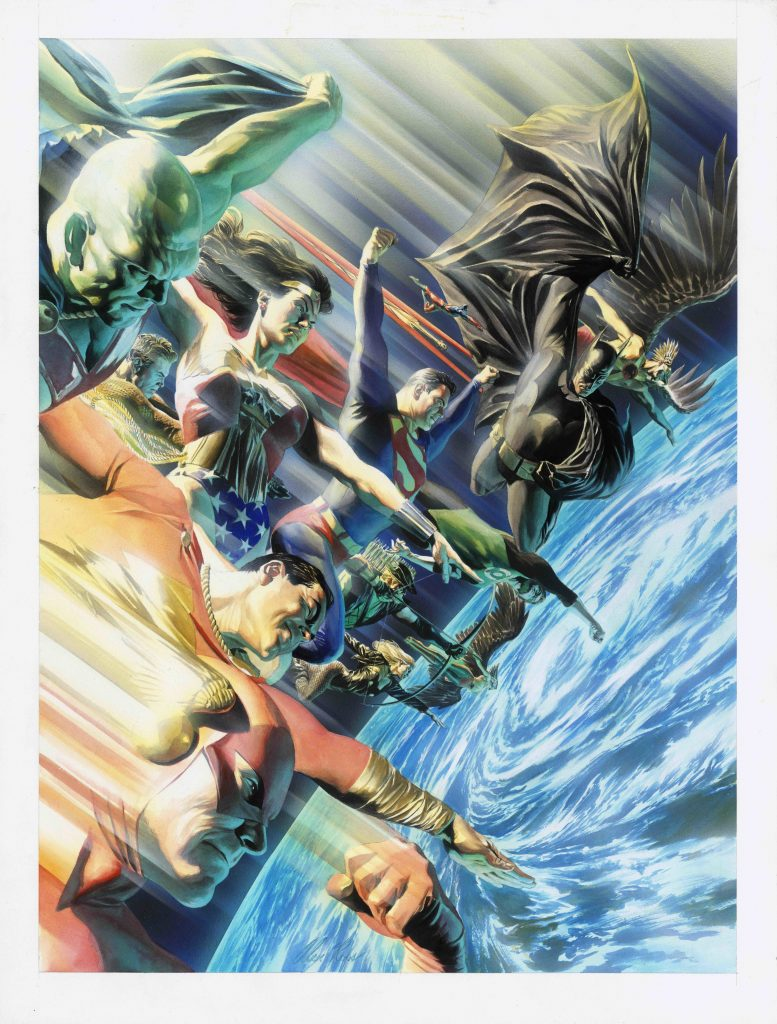 JLA Protectors of the Universe 2000 Artiste Alex Ross JUSTICE LEAGUE and all related characters and elements