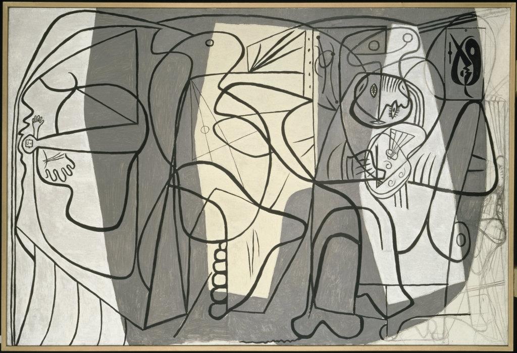 Le peintre et son modele, Pablo Picasso, 1926 - Olga Picasso Musee Picasso