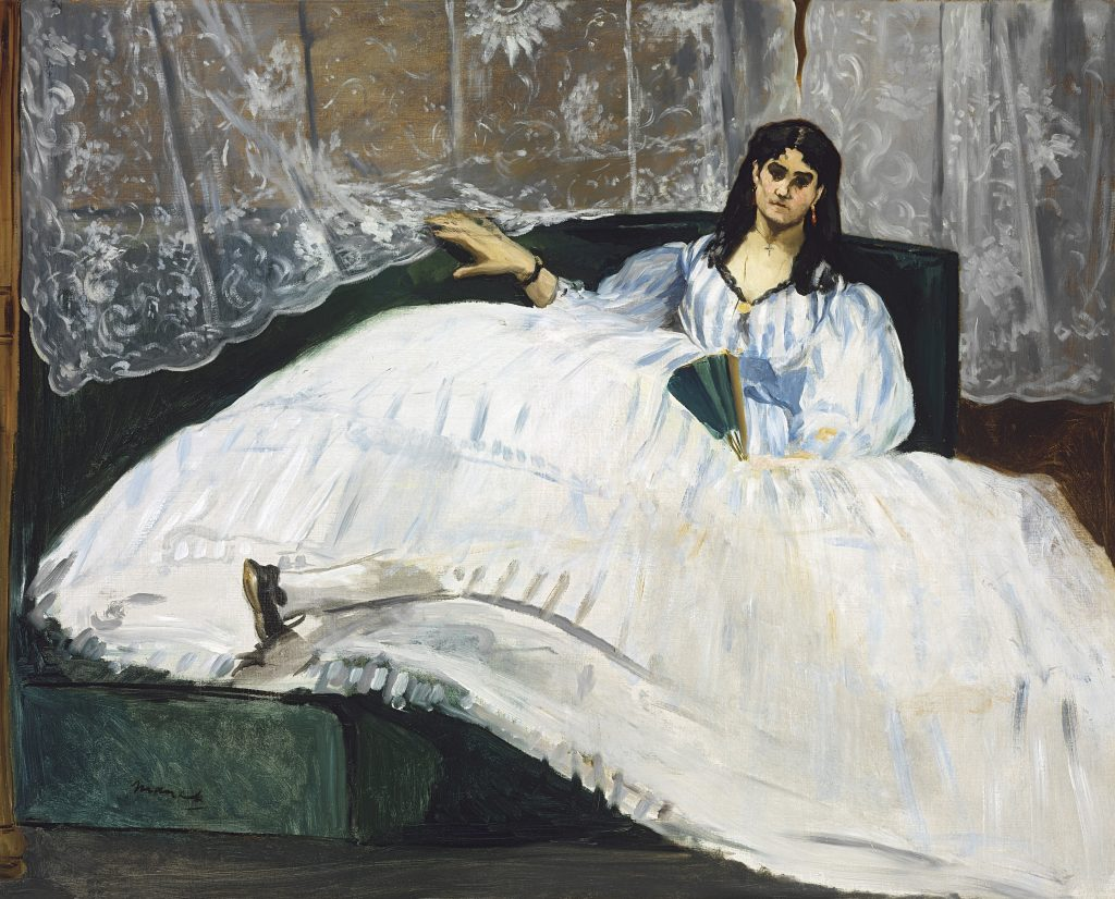 Woman with a Fan, Edouard Manet, 1862 - Masterpieces from Budapest. From the Renaissance to the Avant-Garde au Musee Thyssen- Bornemisza – Madrid