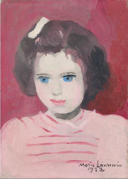Marie Laurencin Portrait d'Anne Sinclair a l'age de 4 ans - 21 rue de la Boetie au Musee Maillol