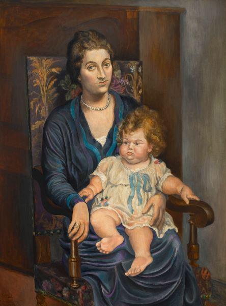 Pablo picasso - Portrait de Mme Rosenberg et sa fille - 21 rue de la Boetie au Musee Maillol