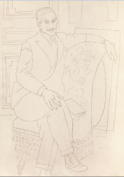 Pablo Picasso - Portrait de Paul Rosenberg - 21 rue de la Boetie au Musee Maillol