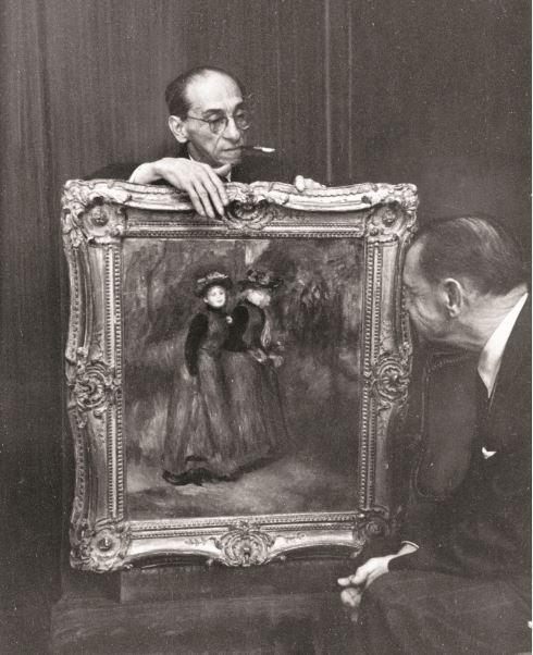 Paul Roseberg Tableau Renoir et Somerset Maugham - 21 rue de la Boetie au Musee Maillol