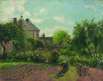 Pissarro à Eragny, Pissarro, Le jardin d'Eragny, 1898, Musée du Luxembourg