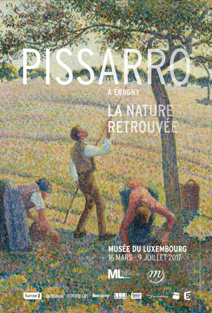 Pissarro à Eragny, affiche de l'exposition, Musée du Luxembourg