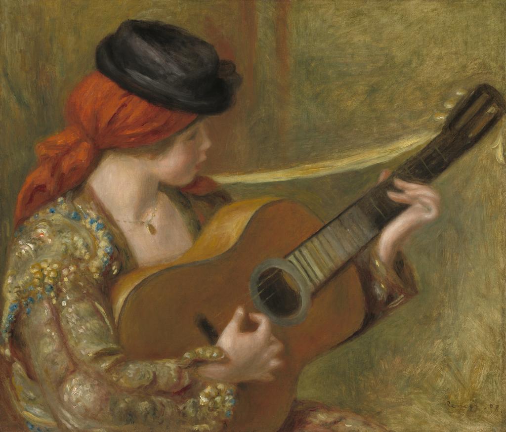 Jeune femme espagnole - Renoir - Tintamarre! Instruments de musique dans l'art 1860-1910 - Musee des impressionnistes Giverny