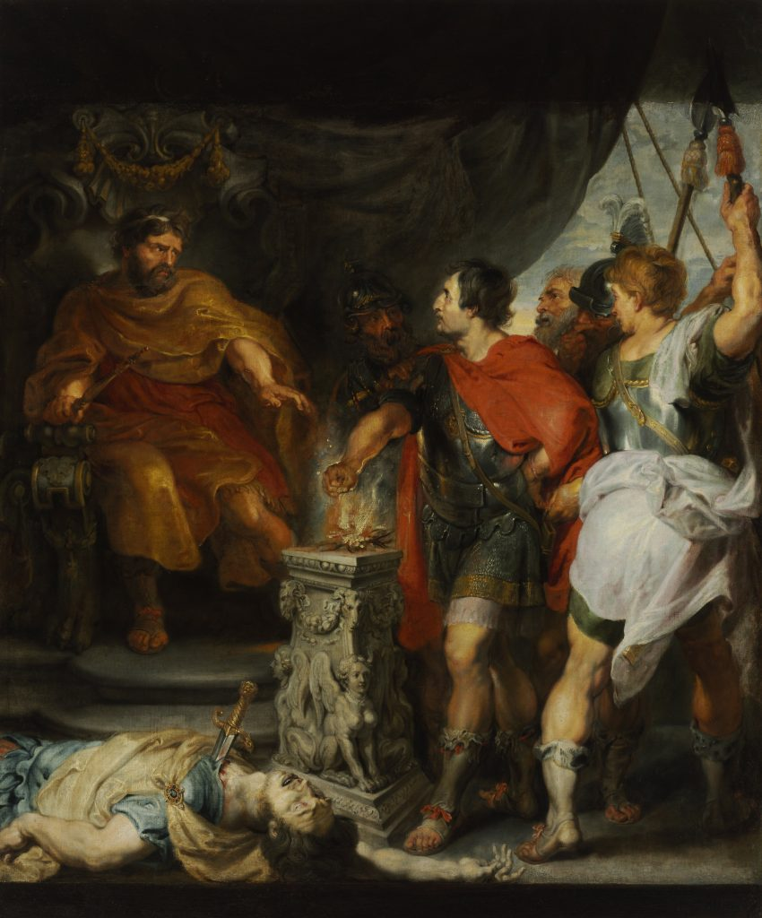 Mucius Scaevola before Porsenna, Sir Peter Paul Rubens and Sir Anthony van Dyck - Masterpieces from Budapest. From the Renaissance to the Avant-Garde au Musee Thyssen- Bornemisza – Madrid