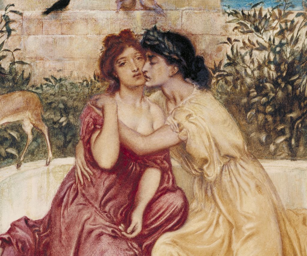 Sappho and Erinna in a Garden at Mytilene Queer British Art - Tate Britain Londres, Royaume Unis