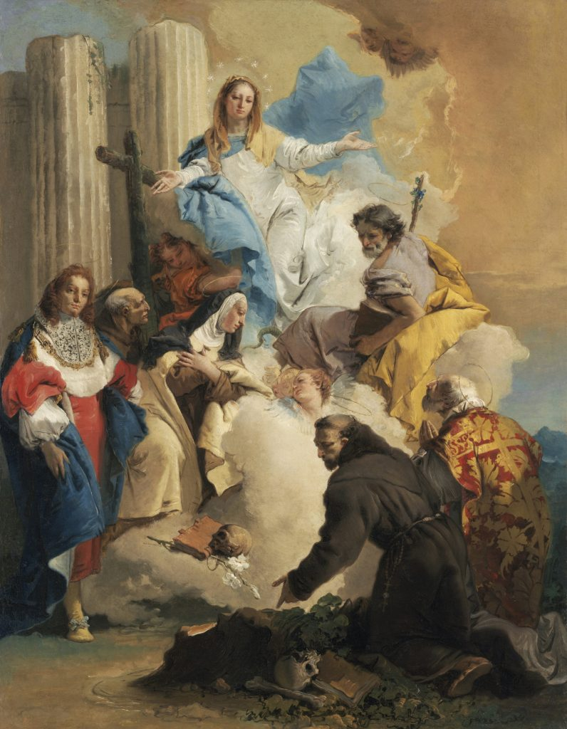 The Virgin with Six Saints, Tiepolo - Masterpieces from Budapest. From the Renaissance to the Avant-Garde au Musee Thyssen- Bornemisza – Madrid