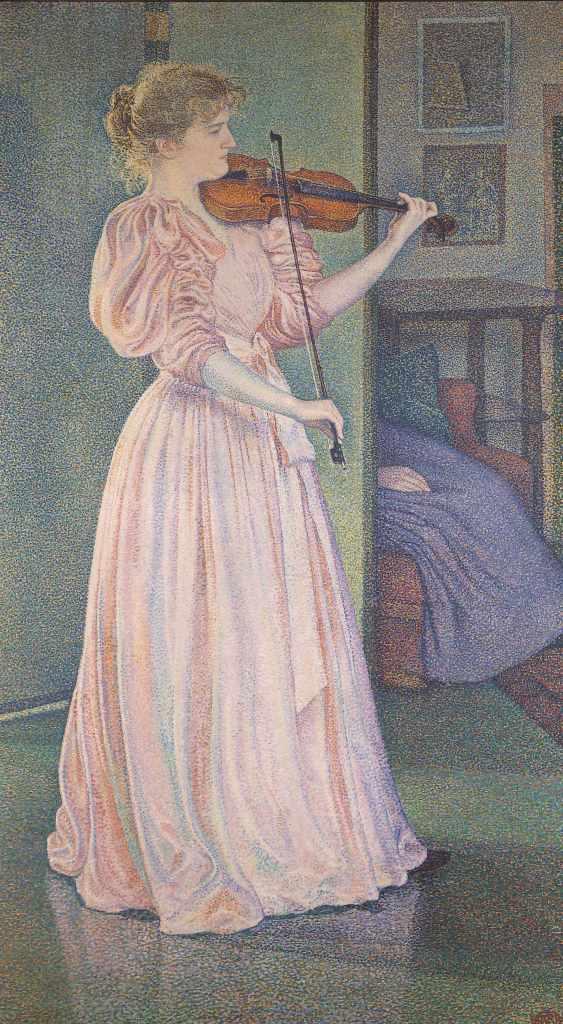 Van rysselberghe Portrait d'irma sethe Tintamarre! Instruments de musique dans l'art 1860-1910 - Musee des impressionnistes Giverny