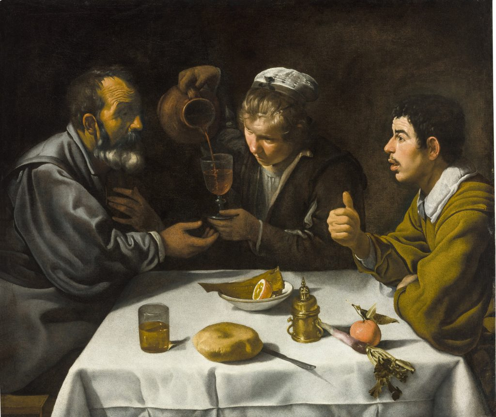 Tavern Scene with two men and a girl, Velazquez - Masterpieces from Budapest. From the Renaissance to the Avant-Garde au Musee Thyssen- Bornemisza – Madrid