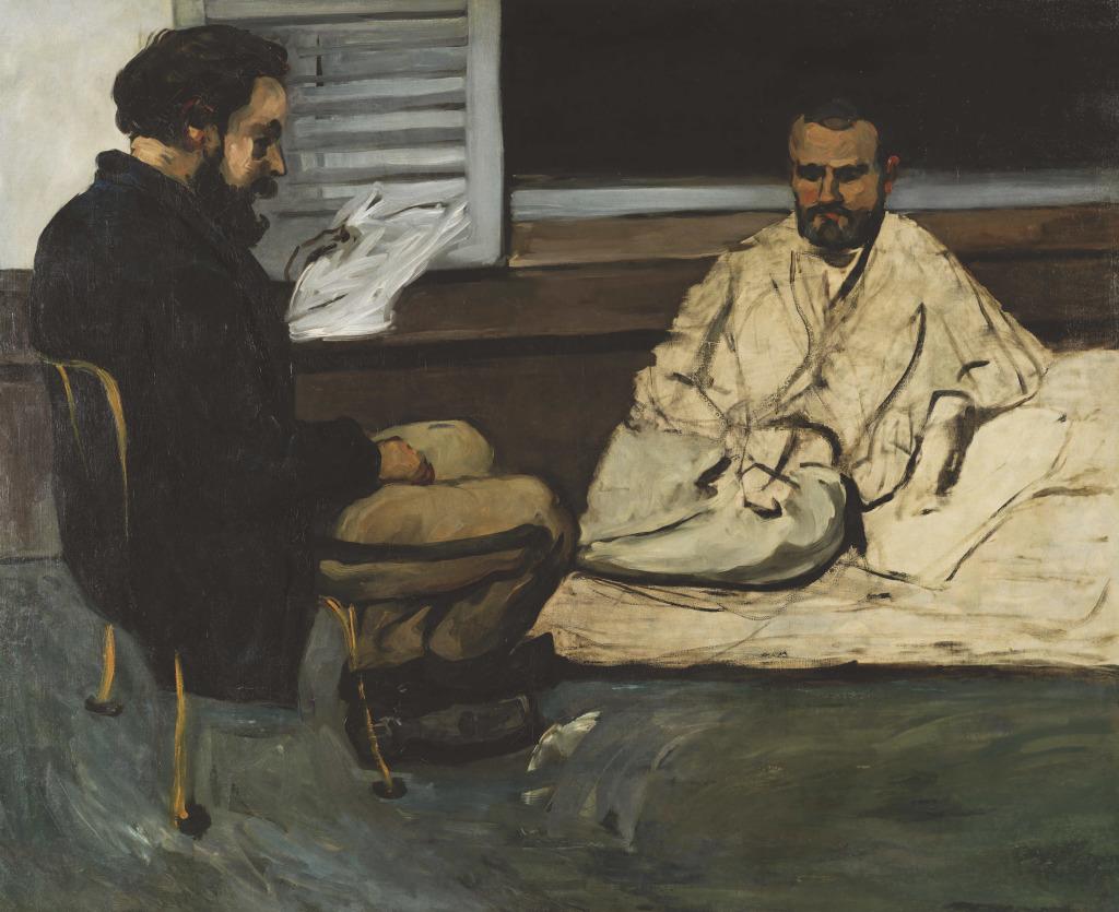 Alexis lisant à Emile Zola, Portraits de Cézanne, Musée d'Orsay