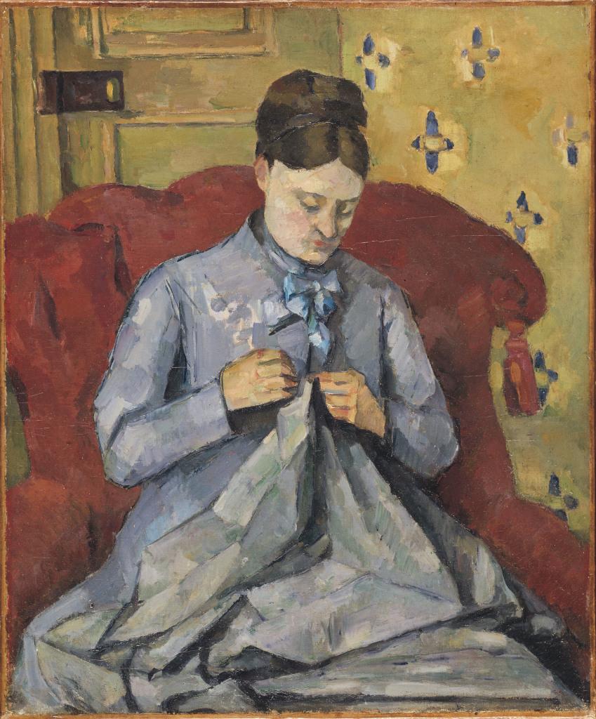 Madame Cézanne cousant, Portraits de Cézanne, Musée d'Orsay