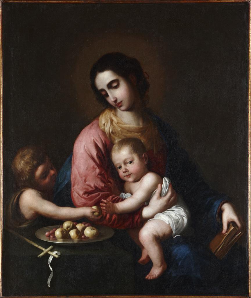 Vierge à l'Enfant avec saint Jean-Baptiste - Francisco de Zurbaran, vers 1659-1661 - De Zurbaran a Rothko, collection Alicia Koplowitz, Grupo Omega - Musee Jacquemart Andre