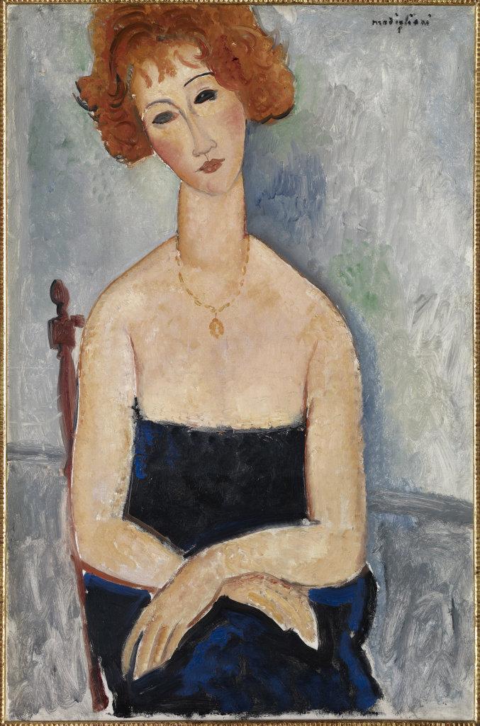 v, Amedeo Modigliani, 1918 - De Zurbaran a Rothko, collection Alicia Koplowitz, Grupo Omega - Musee Jacquemart Andre