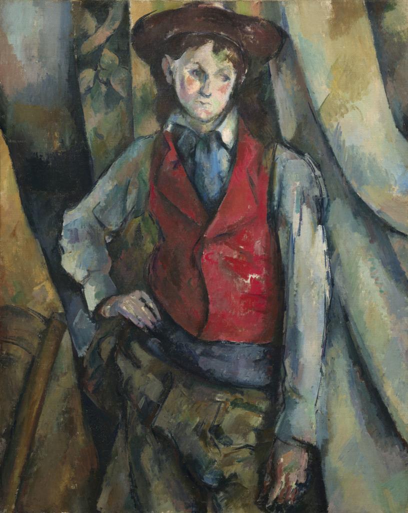 Garçon au gilet rouge, Portraits de Cézanne, Musée d'Orsay