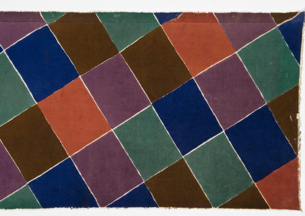 Sonia Delaunay, Morceau de tissu « Tissu simultane n°189 », 1926-1927 - Travaux de dames au Musee des Arts Decoratifs de Paris