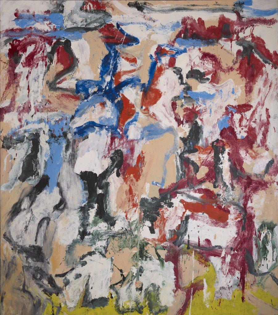 Sans Titre IV - Willem De Kooning, 1977 - De Zurbaran a Rothko, collection Alicia Koplowitz, Grupo Omega - Musee Jacquemart Andre