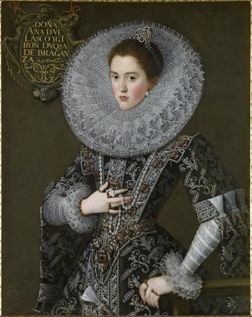 Portrait de Dona Ana de Velasco y Girón, duchesse de Bragance, Juan Pantoja de la Cruz - 1603 - De Zurbaran a Rothko, collection Alicia Koplowitz, Grupo Omega - Musee Jacquemart Andre