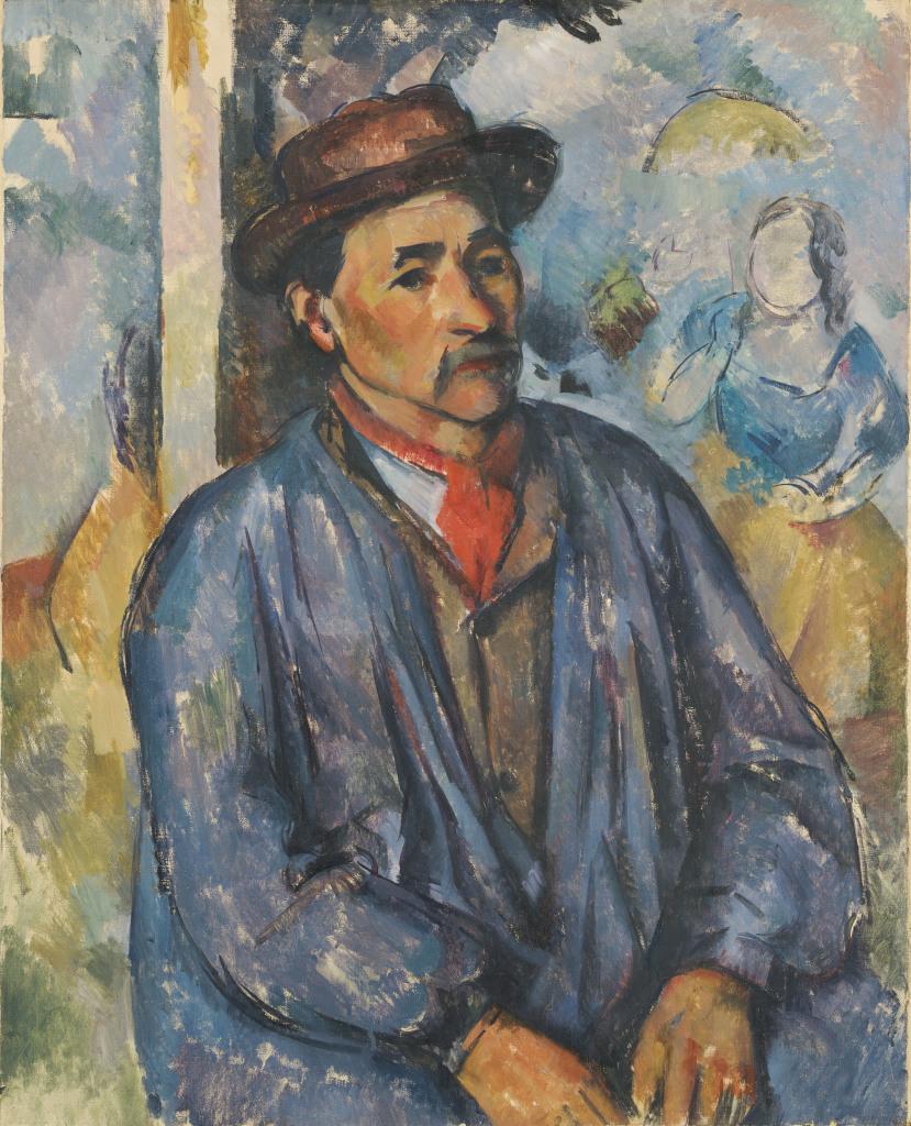 Paysan en blouse bleue, Portraits de Cézanne, Musée d'Orsay