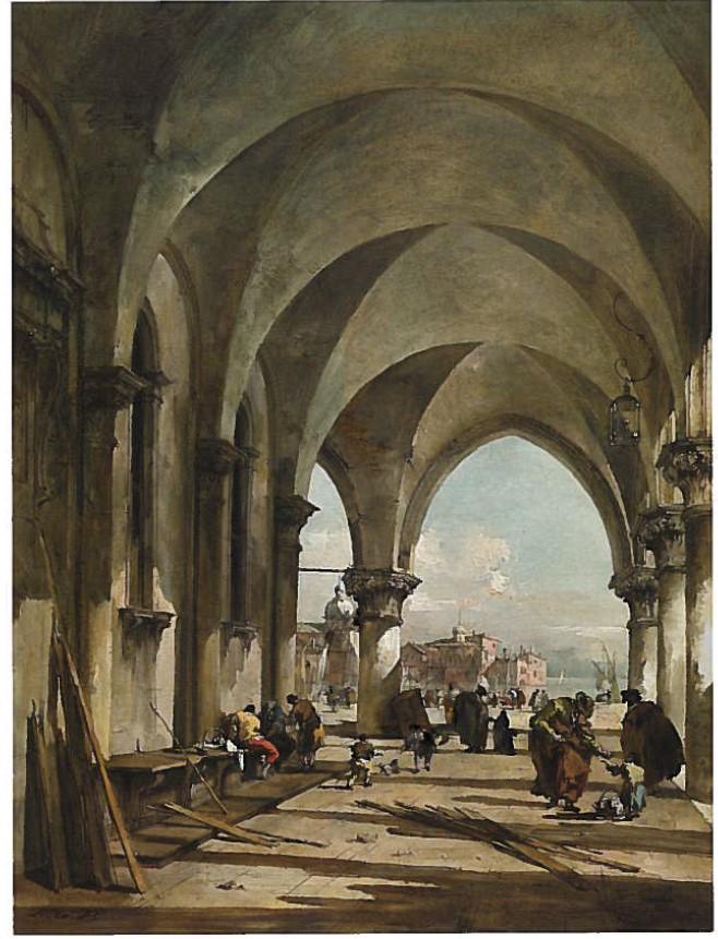 L'arcade du Palais des Doges a Venise, Francesco Guardi, vers 1775 - De Zurbaran a Rothko, collection Alicia Koplowitz, Grupo Omega - Musee Jacquemart Andre