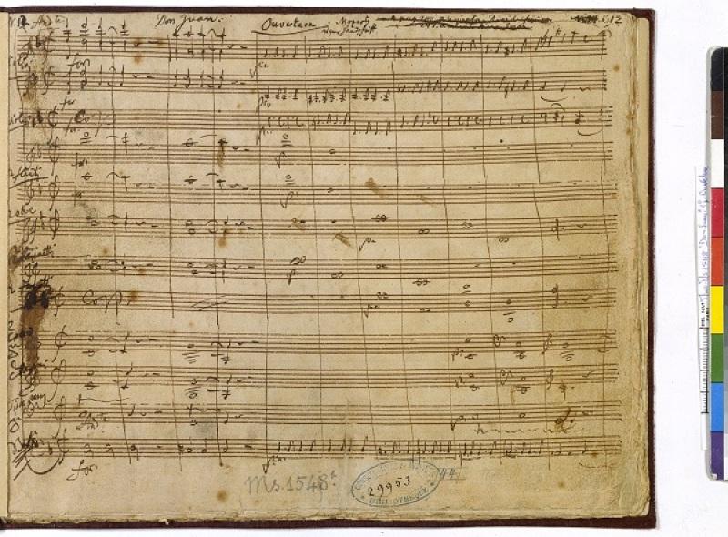 Il dissoluto punito ossia il Don Giovanni.Partition manuscrite autographe de Mozart, 1787. Ouverture.