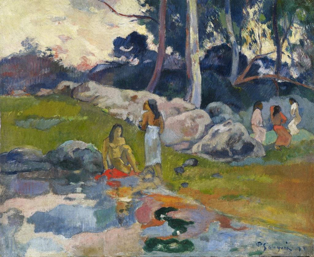 Femmes au bord de la riviere, Paul Gauguin, 1892 - De Zurbaran a Rothko, collection Alicia Koplowitz, Grupo Omega - Musee Jacquemart Andre