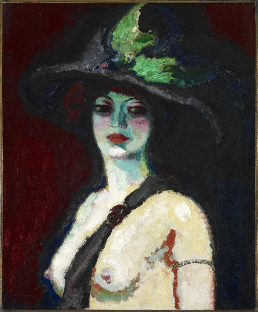 Femme au grand chapeau, Kees Van Dongen, 1906 - De Zurbaran a Rothko, collection Alicia Koplowitz, Grupo Omega - Musee Jacquemart Andre