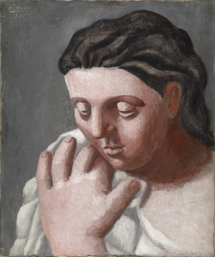 Tete et main de femme, Pablo Picasso, 1921 - De Zurbaran a Rothko, collection Alicia Koplowitz, Grupo Omega - Musee Jacquemart Andre