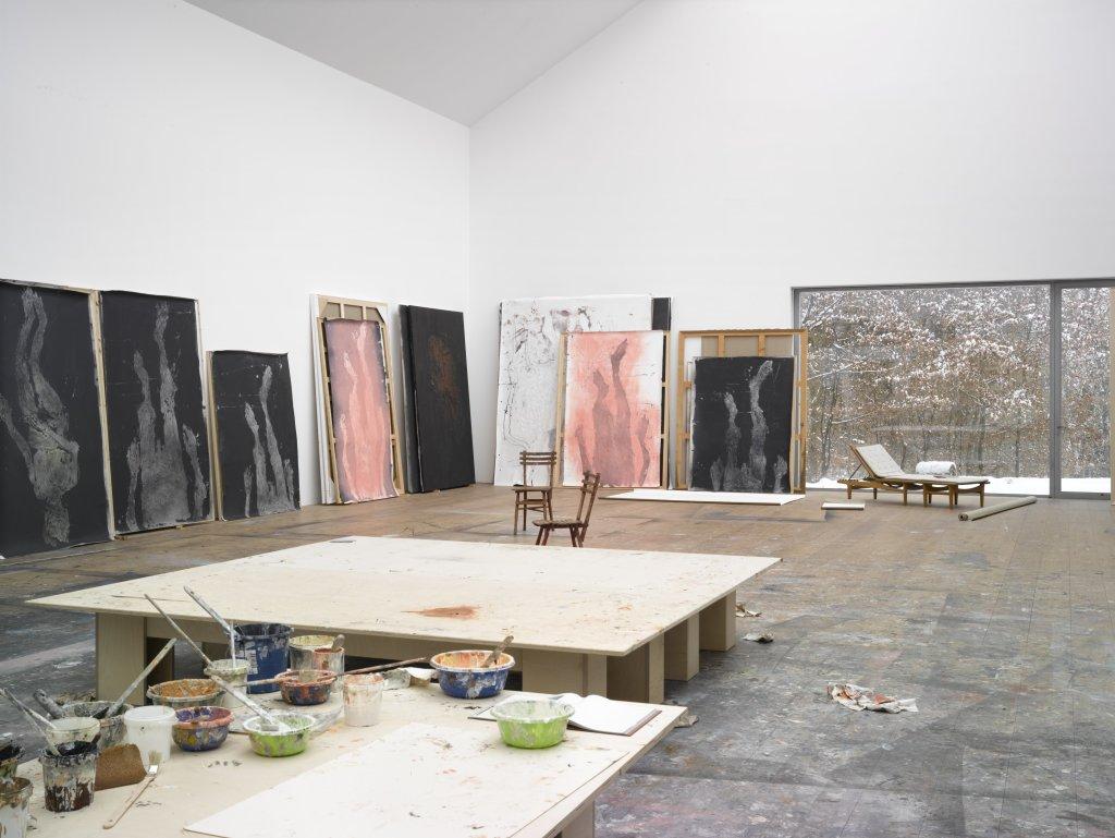 Atelier 1, Georg Baselitz - Descente a la Galerie Thaddaeus Ropac de Pantin