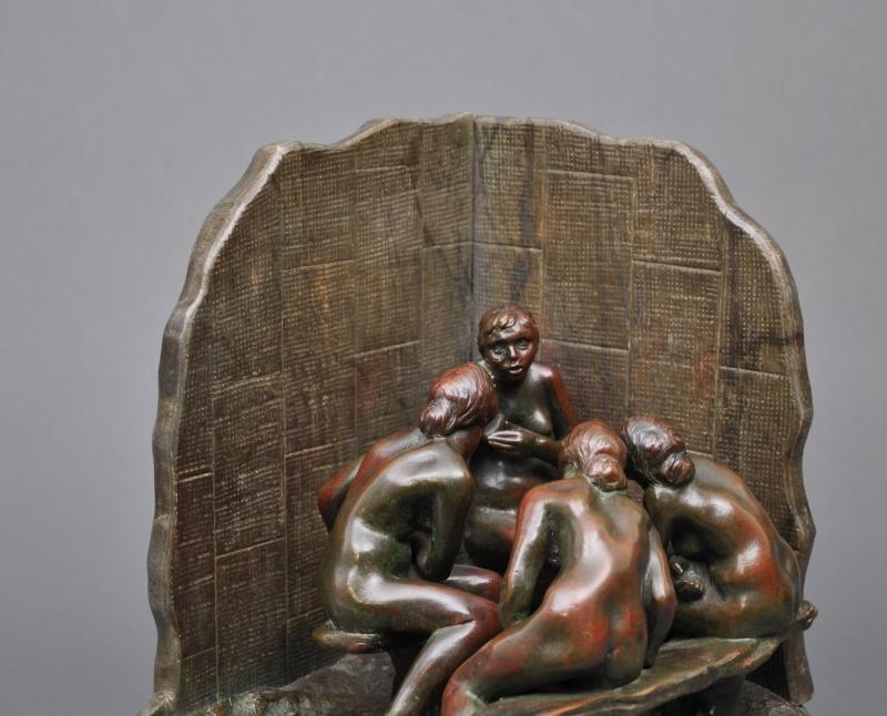 Camille Claudel - Les Causeuses, bronze - Musée Camille Claude, Nogent-sur-Seine