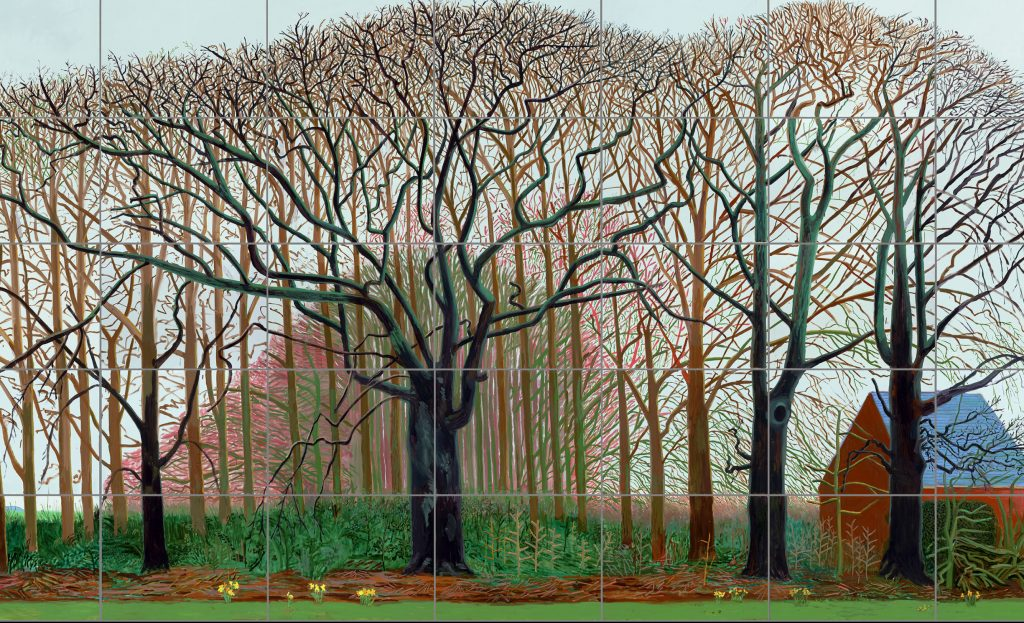 David Hockney, Bigger Trees Near Warter or... 2007 Huile peinte sur 50 toiles - Centre Pompidou