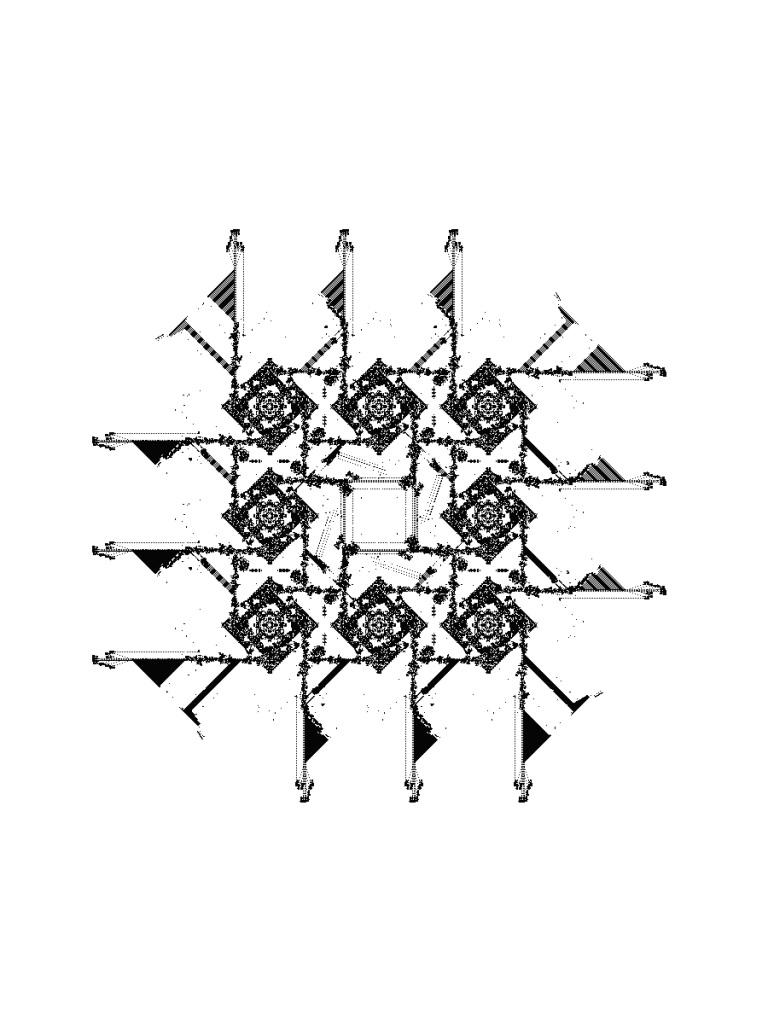 Jean-Paul Delahaye et Olivier Perriquet, Naissance si 3, survie si 2 ou 3 (Le Jeu de la Vie), 2017 - Le reve des formes au Palais de Tokyo 2