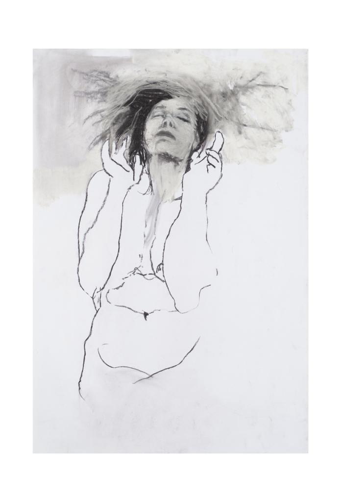 Fusain et craie sur papier, Paz Corona, Galerie Les Filles du Calvaire