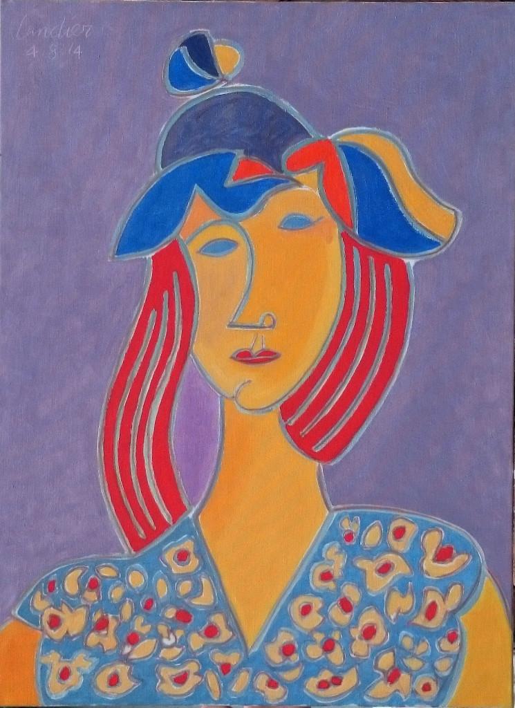 Henri Landier, La Rousse au chapeau - Henri Landier, Vive la vie ! à l'Atelier d'Art Lepic