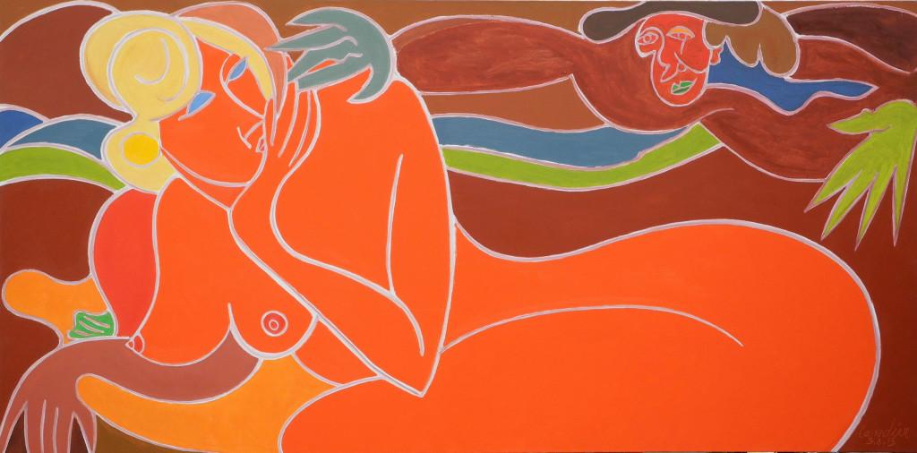 Henri Landier, Le désir ou rêve de Saskia, 2013 - Henri Landier, Vive la vie ! à l'Atelier d'Art Lepic