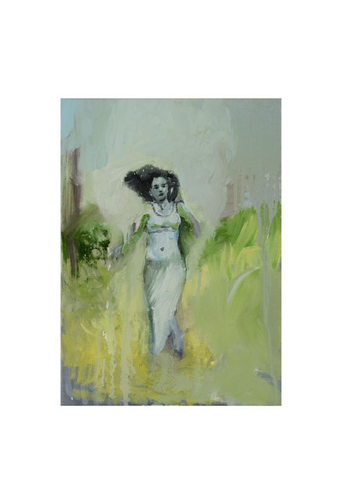 Huile sur toile, Paz Corona, Galerie Les Filles du Calvaire
