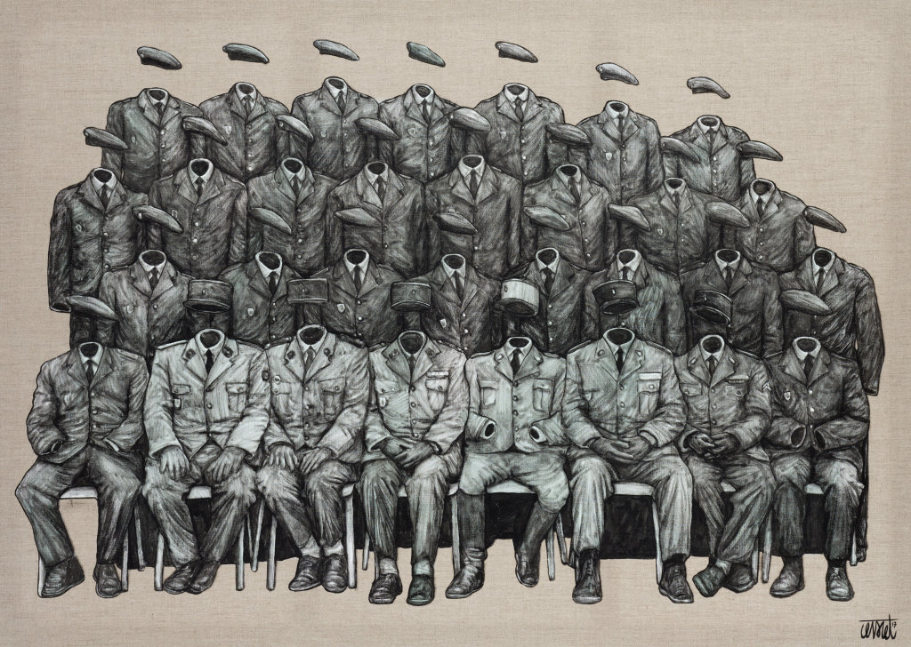Ses classes, Levalet, 2017, Galerie Brugier-Rigail
